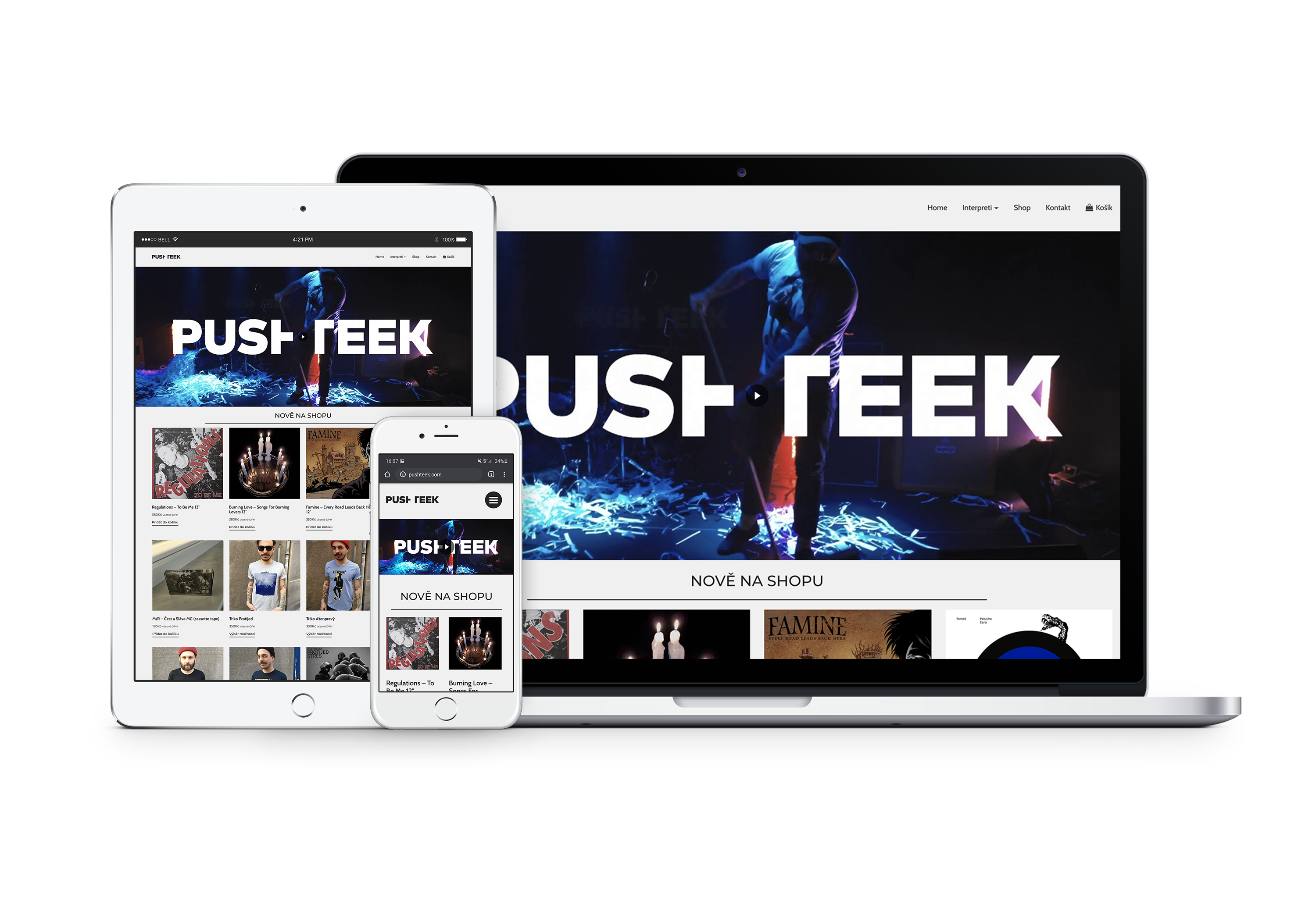 Pushteek - responsive website